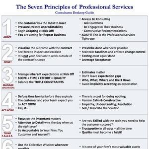 The Seven Principles Summary Sheet