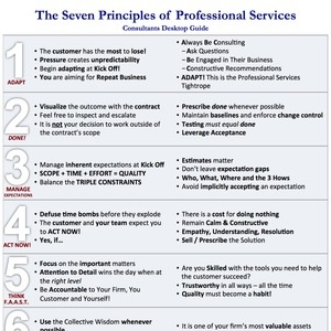 The Seven Principles Summary Sheet