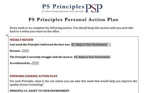 PSP Action Plan